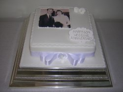 Diamond Anniversary photo cake