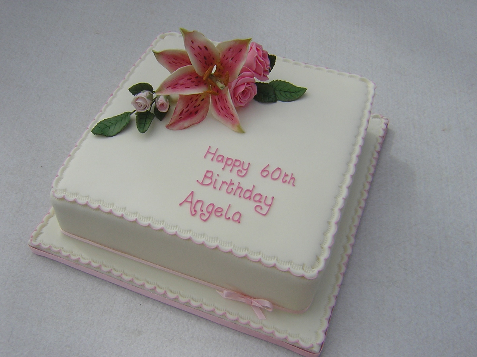 Birthday cake angela image inspiration of cake and for Angela florist decoration