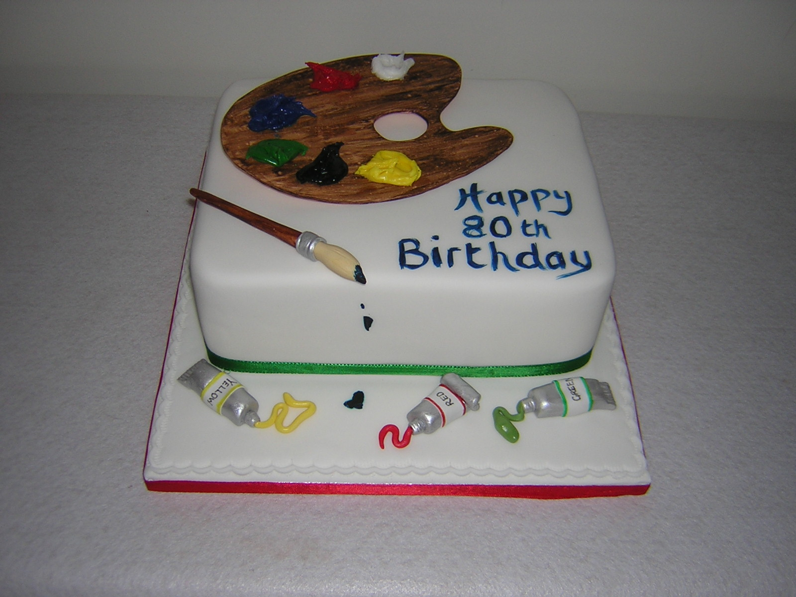 Birthday Cake With Artist Palette ~ Image Inspiration of ...