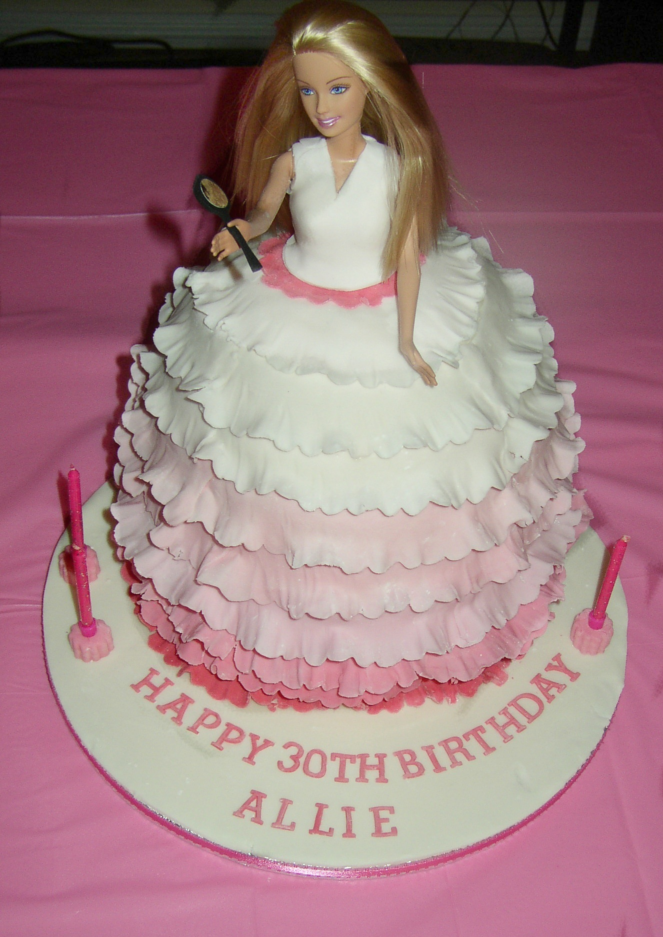 Images Of Barbie Birthday Cake : Pin Barbie Cake Birthday Cake on Pinterest