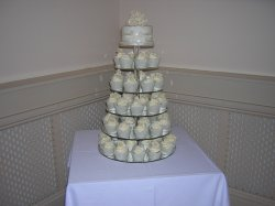 Ivory Rose Cupcake Tower
