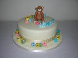 Baby cake with teddy