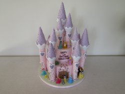 Darcey May Princess castle cake