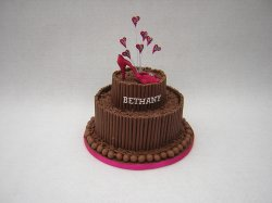chocolate-birthday-cake-with-handmade-sugar-shoejpg