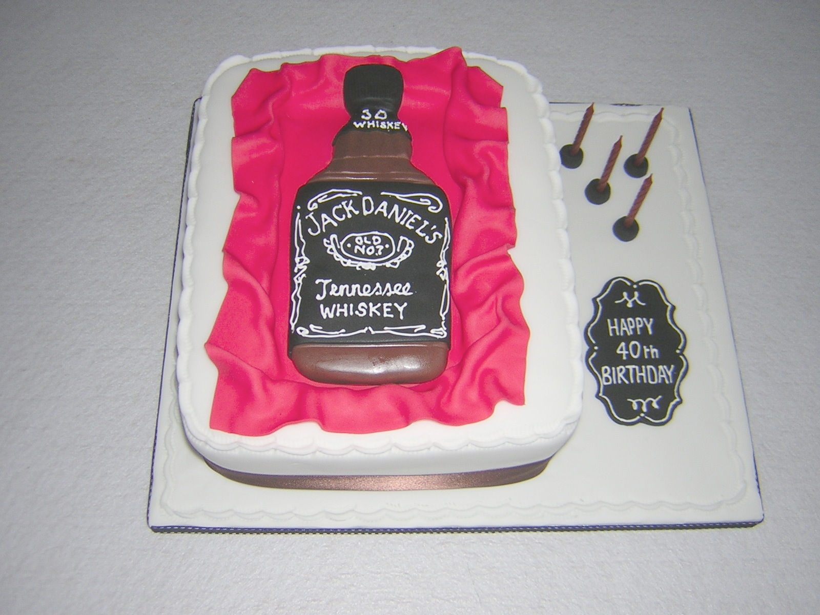 Cake Made For Celebrating The Birthday Month Of Jack Daniels In