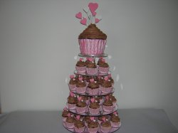 pink-gingham-cupcake-tower
