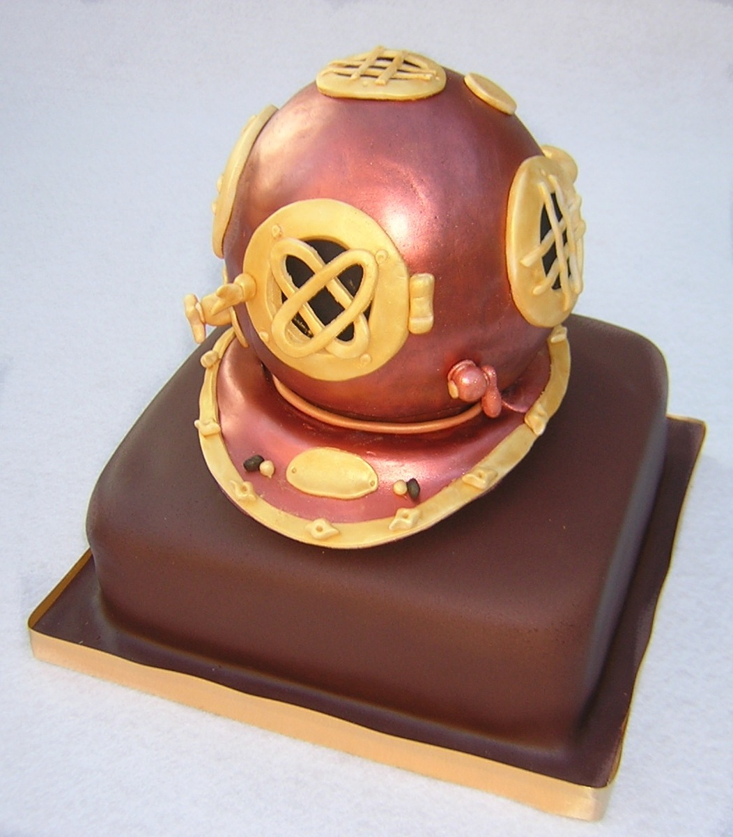 Julie's Diving Helmet Cake