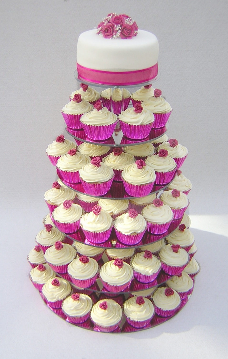 julies-pink-roses-cupcake-tower
