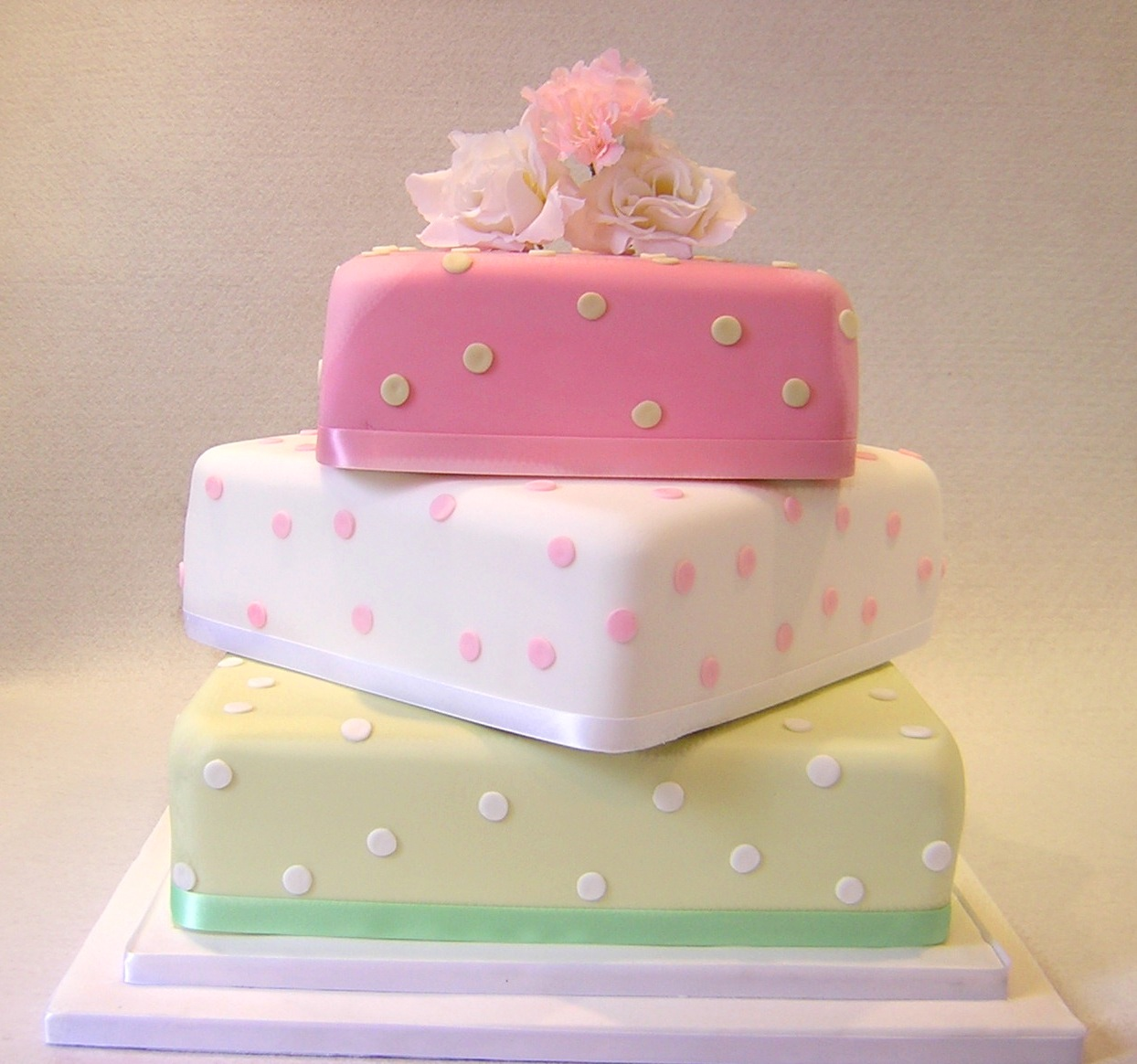 julies-three-colour-spots-layer-cake
